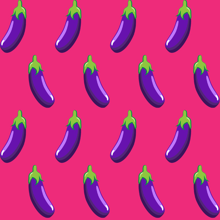 eggplant: eggplant stock vector pattern on pink background wallpaper, pattern, web, blog, surface, textures, graphic & printing