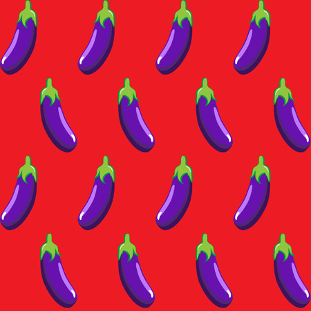 eggplant stock vector pattern on red background wallpaper, pattern, web, blog, surface, textures, graphic & printing