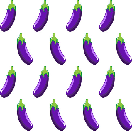 eggplant stock vector pattern  on white background wallpaper, pattern, web, blog, surface, textures, graphic & printing