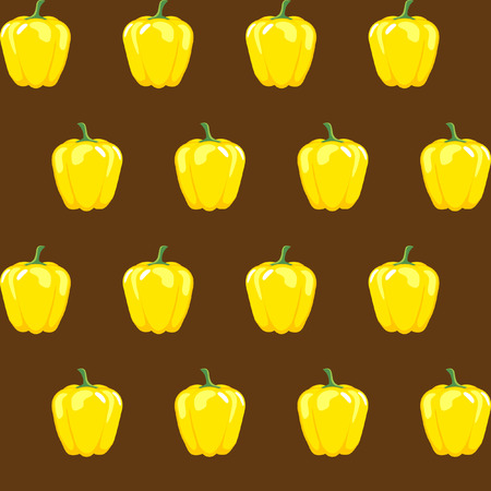 yellow bell pepper stock vector pattern on brown background for wallpaper, pattern, web, blog, surface, textures, graphic & printing