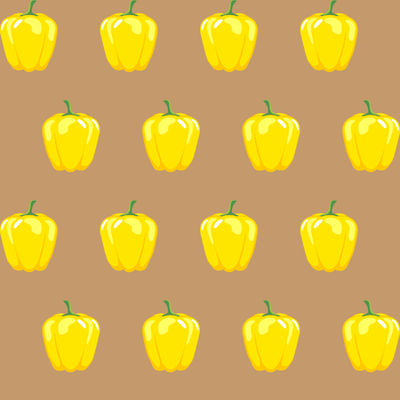 yellow bell pepper stock vector pattern on light brown background for wallpaper, pattern, web, blog, surface, textures, graphic & printing