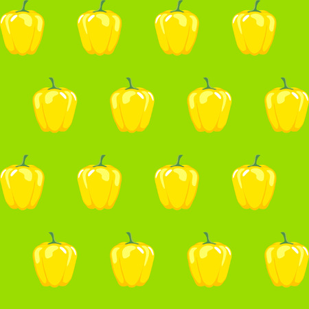 yellow bell pepper stock vector pattern on neon green background for wallpaper, pattern, web, blog, surface, textures, graphic & printing Illustration