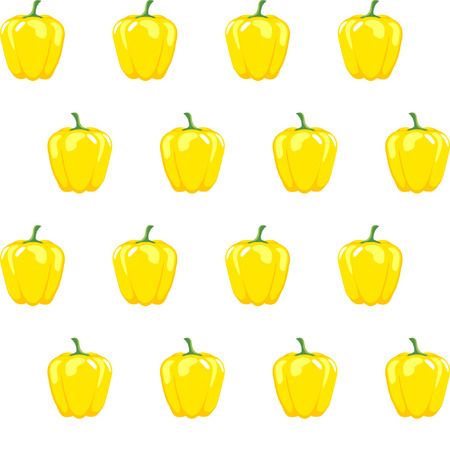 yellow bell pepper stock vector pattern on white background for wallpaper, pattern, web, blog, surface, textures, graphic & printing