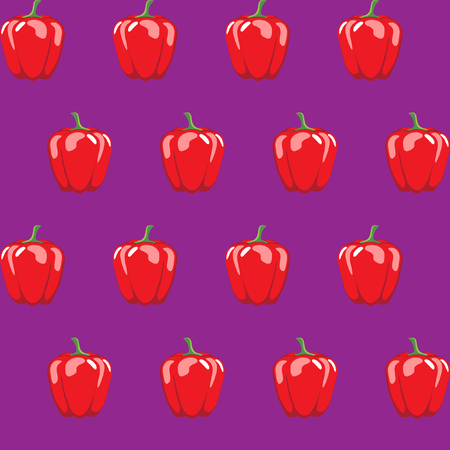 red bell pepper stock vector pattern on purple background for wallpaper, pattern, web, blog, surface, textures, graphic & printing
