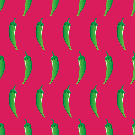 green chilli stock vector seamless pattern on red background for wallpaper, pattern, web, blog, surface, textures, graphic & printing