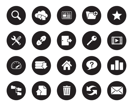 hosting web icons vector for office, web, blog, graphic & printing
