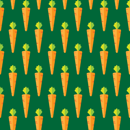Carrot stock vector seamless pattern on green background for wallpaper, pattern, web, blog, surface, textures, graphic & printing Illusztráció