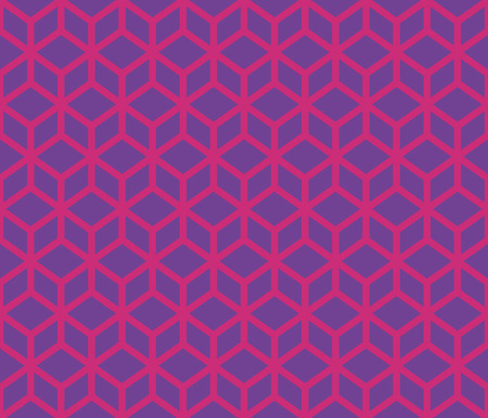 Blue cubes with border contour abstract geometrical pattern design.