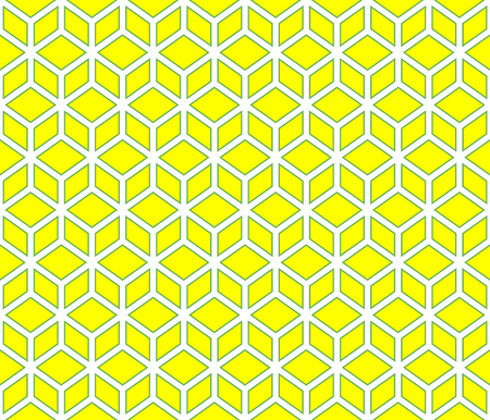 Yellow contour abstract geometrical pattern design. Illustration