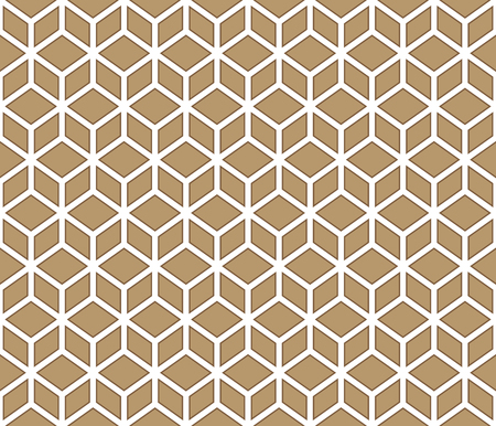 Brown boxed cubes contour abstract geometrical pattern design. Vectores