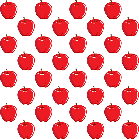 Apple fruit contour abstract seamless pattern on white background for wallpaper, pattern, web, blog, surface, textures, graphic