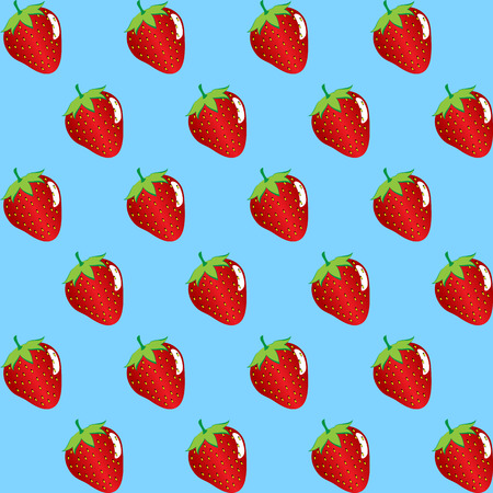 Strawberry fruit contour abstract pattern.