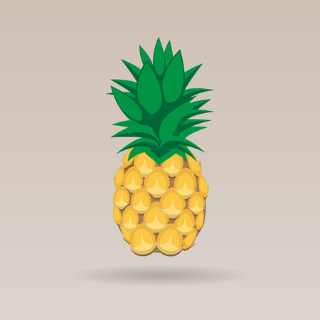 pineapple fruit contour abstract seamless pattern on stark white brown background for wallpaper, pattern, web, blog, surface, textures, graphic & printing