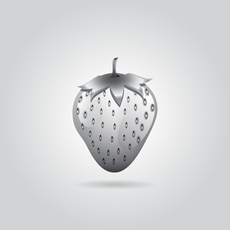 A grey strawberry abstract on grey background for wallpaper, pattern, web, blog, surface, textures, graphic or printing