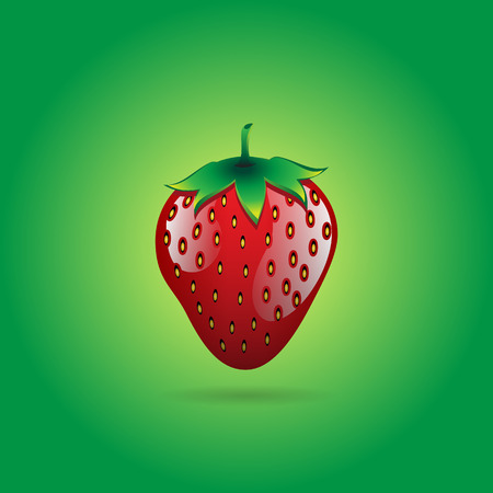 A red strawberry fruit contour abstract on green glowing background for wallpaper, pattern, web, blog, surface, textures, graphic