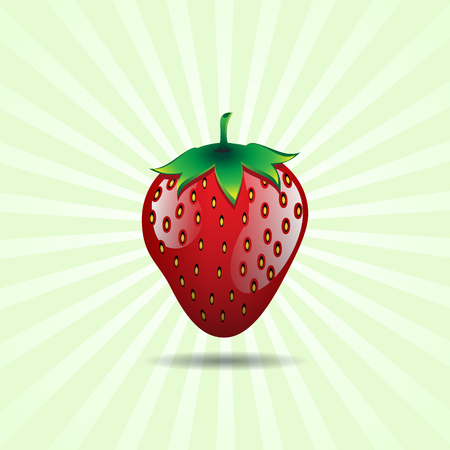 red strawberry fruit contour abstract seamless pattern on light green background for wallpaper.