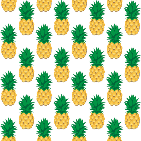 A pineapple fruit contour abstract seamless pattern on white background for wallpaper, pattern, web, blog, surface, textures, graphic