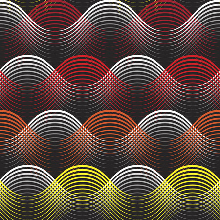 yellow orange red shaded colorful geometrical lines seamless pattern