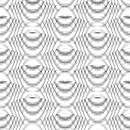 Geometrical waves black lines seamless pattern Illustration