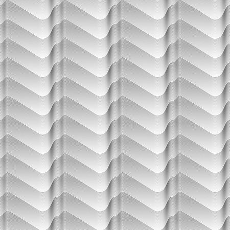 black - white Seamless gradient lines wave seamless geometrical pattern