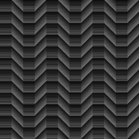 Geometrical white lines Seamless pattern on black background Illustration