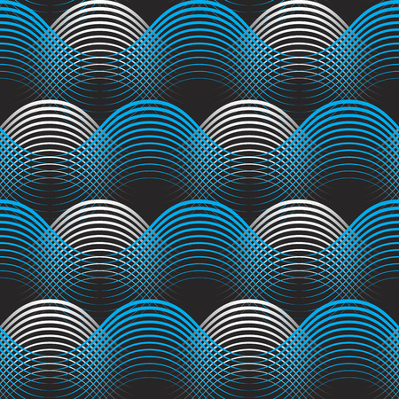 blue and white geometrical lines seamless pattern