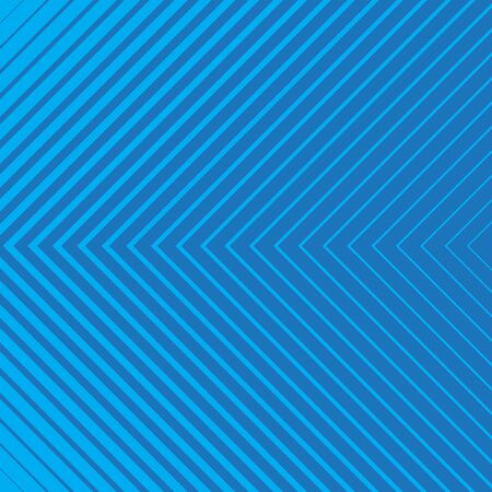 Blue striped geometrical diagonal parallel lines pattern on blue background. Repeat straight stripes texture background.