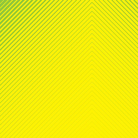 Green striped geometrical diagonal parallel lines pattern on yellow background. Repeat straight stripes texture background.