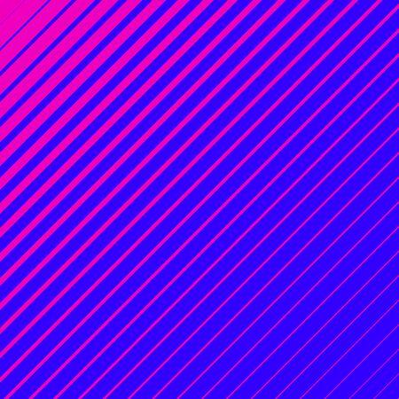 Pink striped geometrical diagonal parallel lines pattern on blue background. Repeat straight stripes texture background. Illusztráció