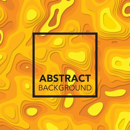 3d yellow orange abstract background with paper cut shapes. Available in high-resolution jpeg in several sizes & editable eps file, can be used for wallpaper, pattern, web, blog, surface, textures, graphic & printing.