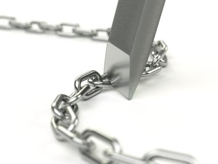 breaking: Breaking chains Stock Photo