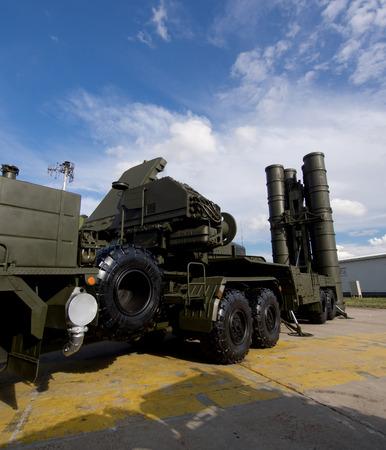 radar gun: Air defense missile system on duty