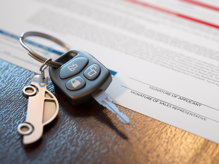 car keys: Car loan application with car keys