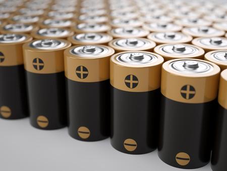 nimh: Set of AA-sized batteries Stock Photo