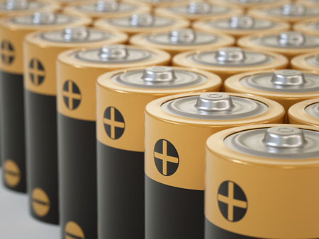 nimh: Set of AA-sized batteries Stock Photo