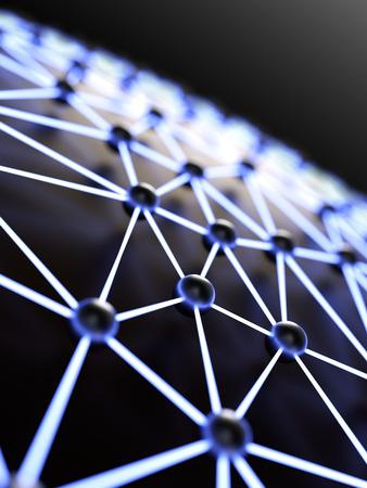red informatica: Resumen iluminado red de cerca y con profundidad de campo