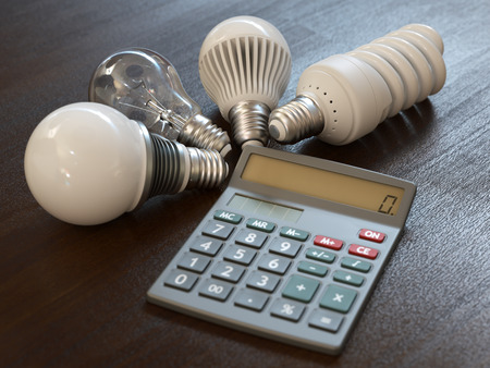 Energy expenses concept Stock Photo