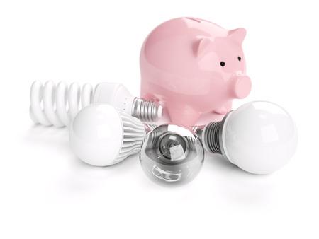 energy efficient: Energy saving concept