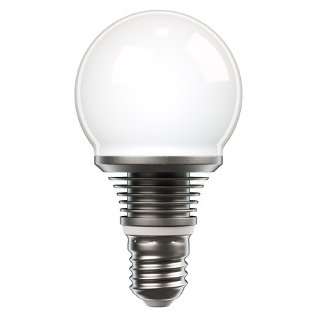 resourceful: LED light bulb isolated on white background