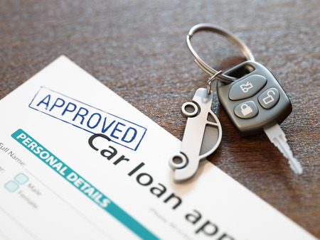 Approved Car Loan Application Stockfoto