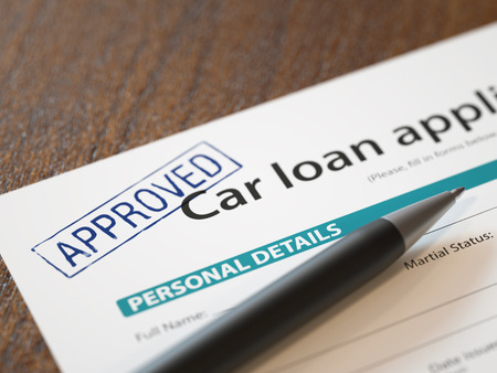 Approved Car Loan Application Stock Photo