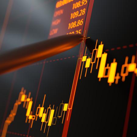 Candlestick chart Stock Photo