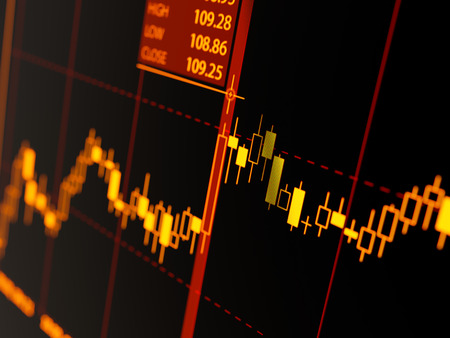Candlestick chart Banque d'images