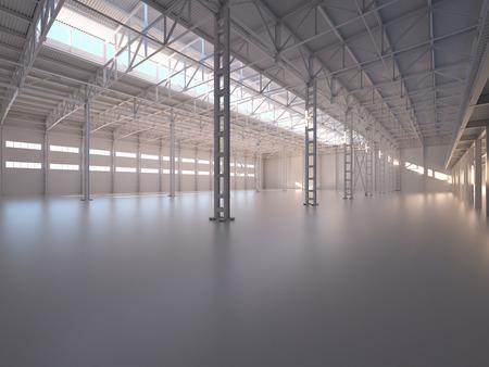 Abstract Empty Warehouse Interior
