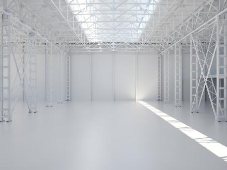 edificio industrial: Resumen Vacío Interior del almacén