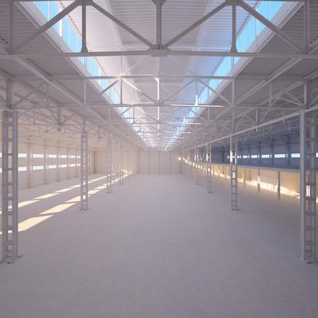 empty warehouse: Abstract Empty Warehouse Interior