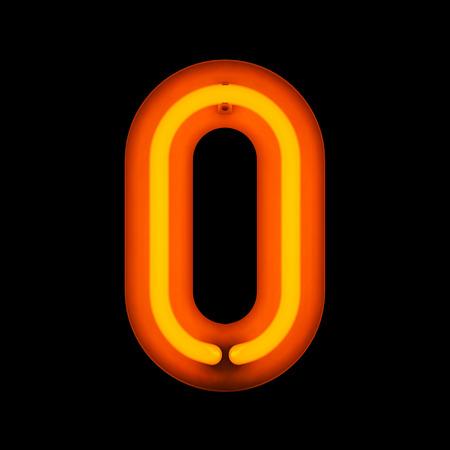 nombres: WWW Neon neon de la collection de l'alphabet isol� sur noir