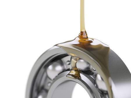 Engrasar cojinete de bolas de primer plano aislado en blanco Foto de archivo - 41936730
