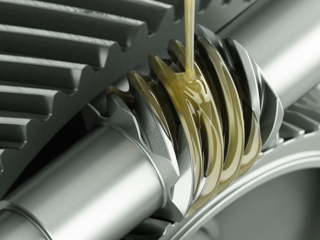 greasing: Oiling gears close up shot