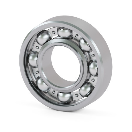 ball bearing: Ball bearing close-up isolated on white